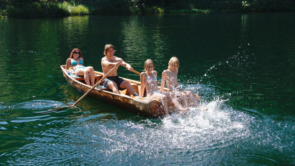 ježdění na loďkách
